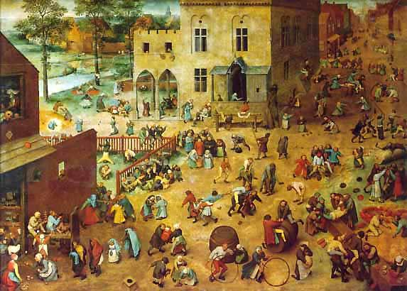 """El cuadro del pintor flamenco Pieter Brueghel """"Juegos de niños"""" sirve para introducir la actividad de hoy"""