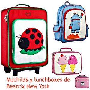mochilas y lunchboxes de beatrix ny