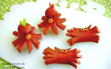 pulpos y cangrejos