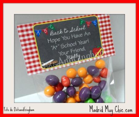 etiqueta caramelos dots and gingham editada