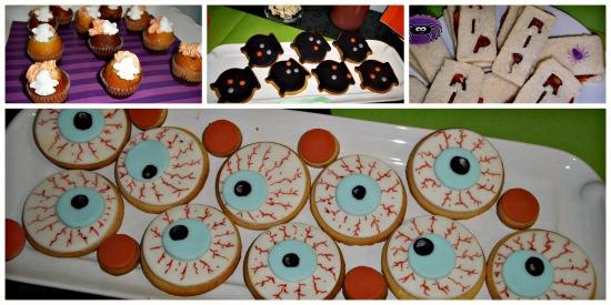 galletas y mesa halloween