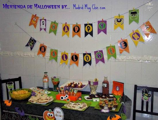 mesa merienda halloween
