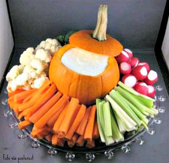 verduras para halloween