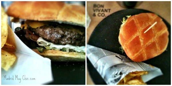 Bon vivant hamburguesa collage