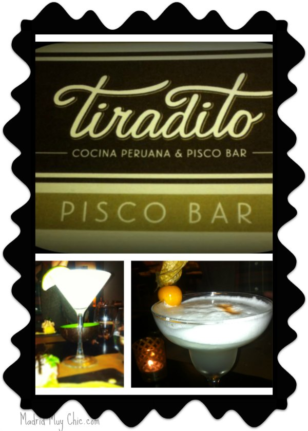 Tiradito pisco bar collage