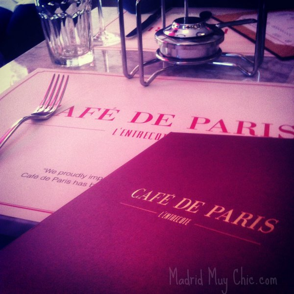 Cafe de paris mesa