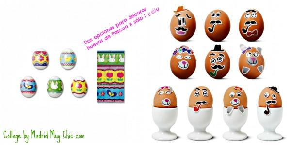 collage decoracion huevos tiger