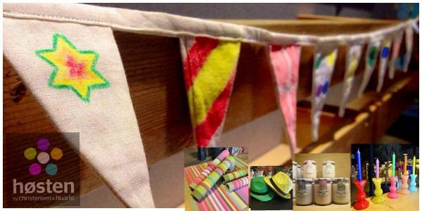 Una pequeña selección del catálogo de Hosten. El banderín para que los niños lo pinten está en mi wish list. Fotos de Hosten