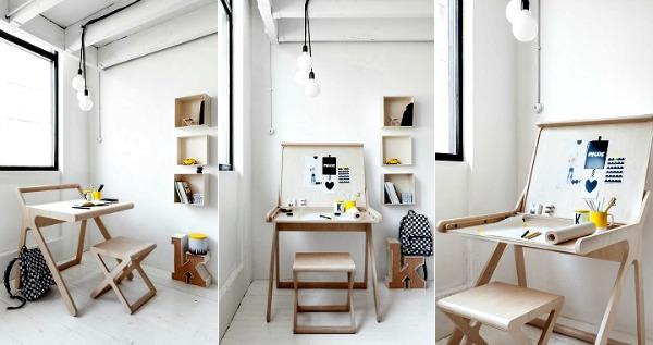 Moderno y muy práctico, además ocupa poco espacio. Me encanta este escritorio de ___