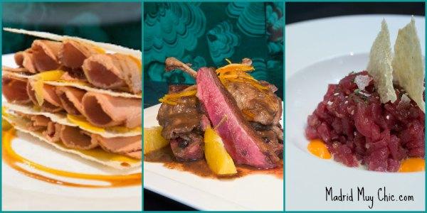 Carne de ciervo, lascas de foie, tartars...  Hummm!