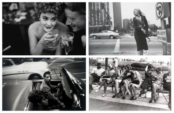 Garry Winogrand. Arriba izda.: Metropolitan Opera, Nueva York (1964). Arriba drcha.: Los Angeles (1980-83). Abajo izda.: Los Angeles (1964). Abajo drcha.: Nueva York World´s Fair (1964)