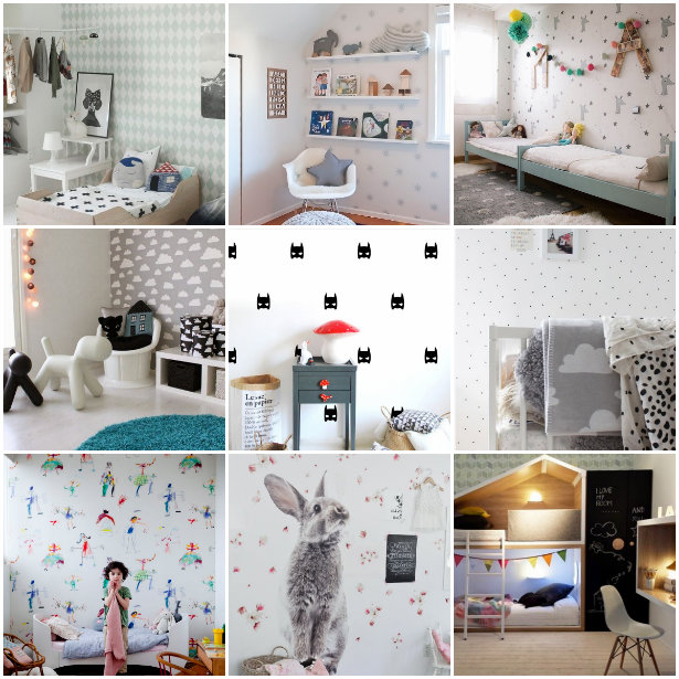 Los mejores papeles pintados para habitaciones infantiles - Papeles pintados para bebes ...