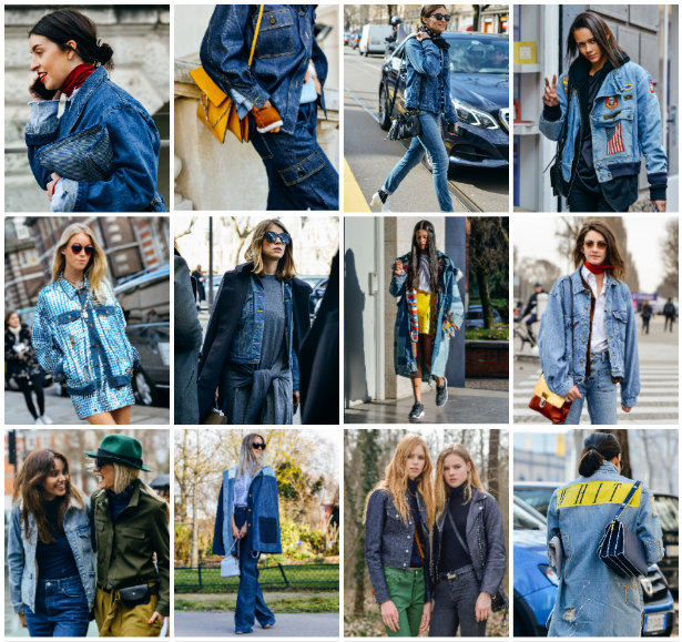 collage denim cazadoras