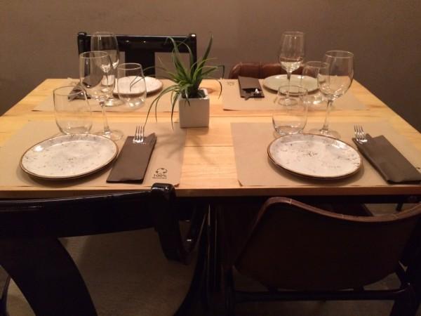 Detalle de nuestra mesa