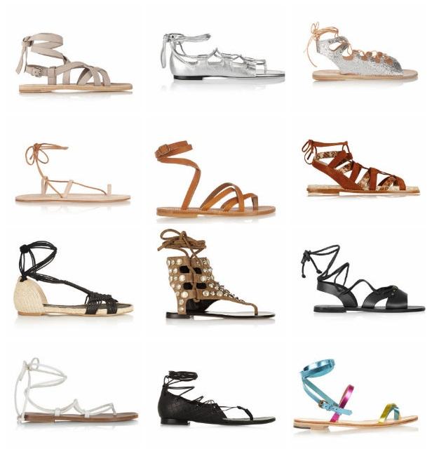 sandalias de gladiador planas