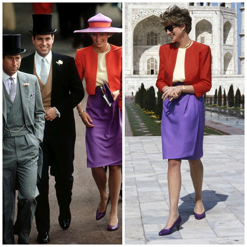 Diana, innovando en 1990 con el color block.