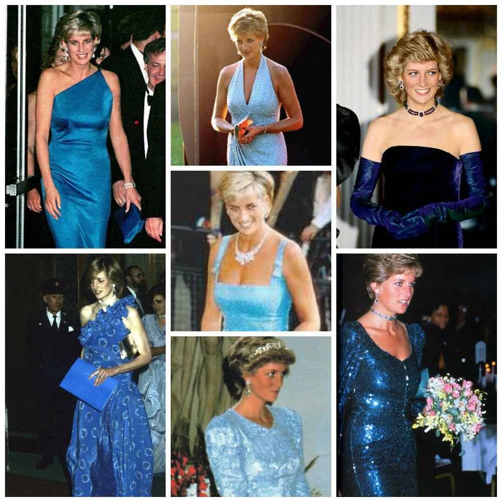 Diana en azul, de lo más favorecedora