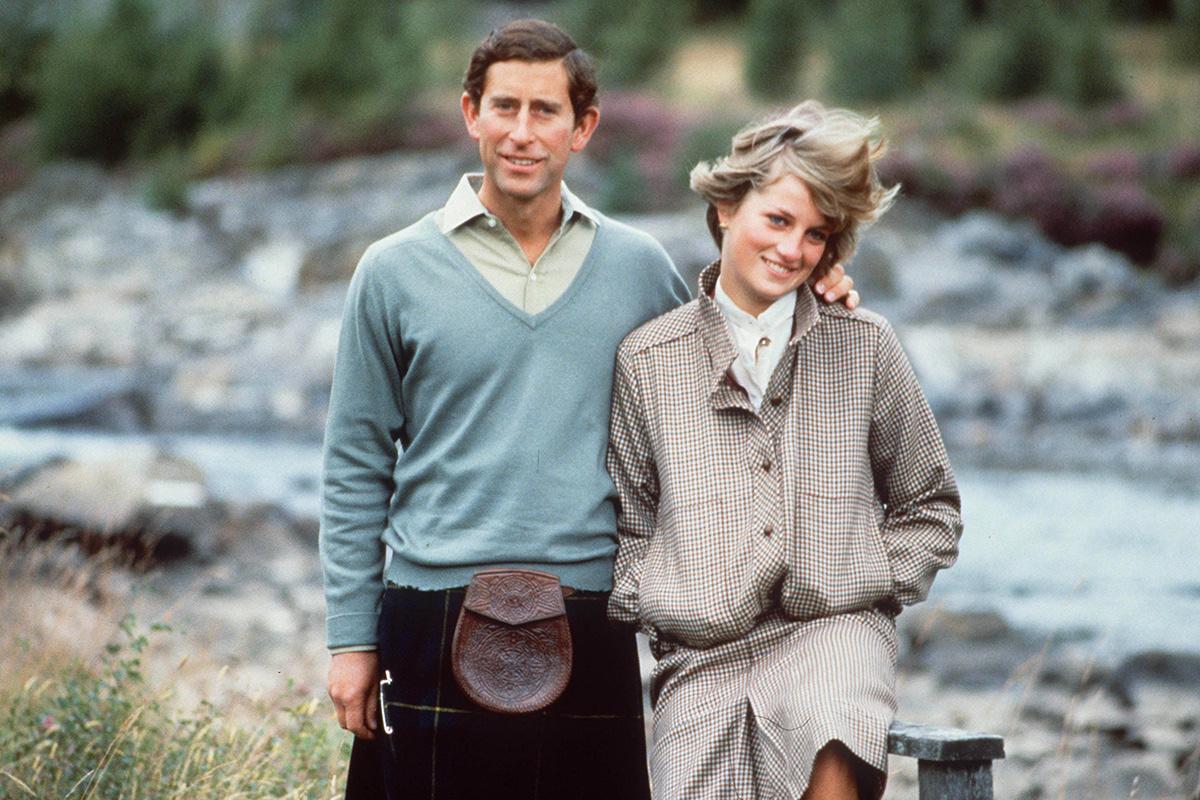 Carlos y Diana en Balmoral