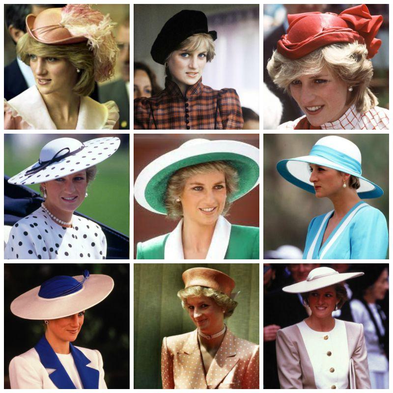Una pequeña muestra de los sombreros y tocados de Diana