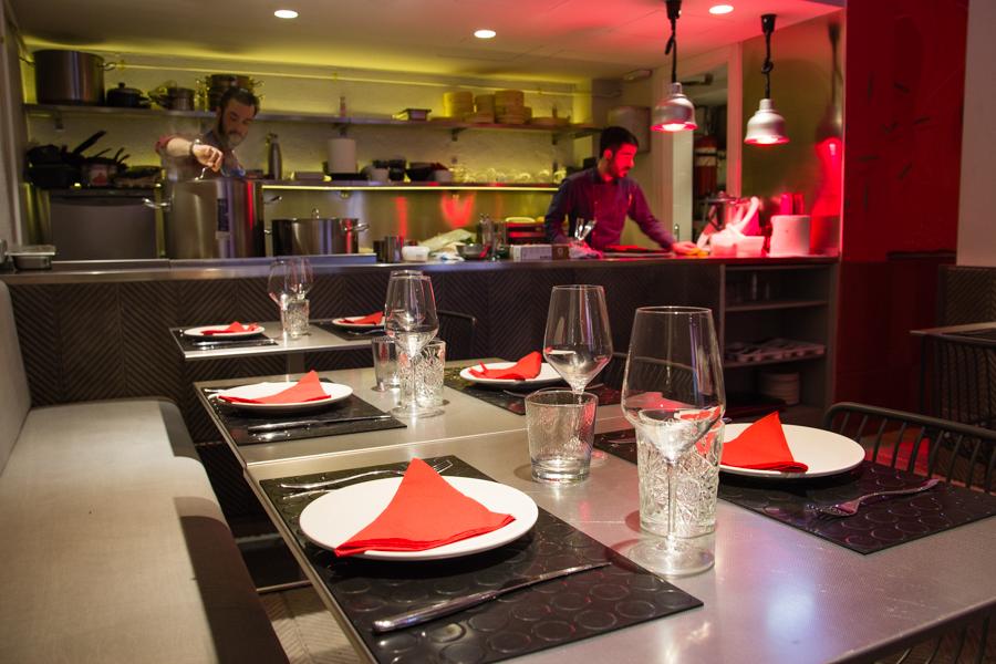 Cocina descubierta en Bocacalle (Madrid)