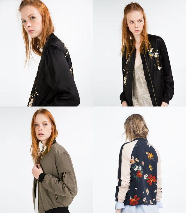 collage zara bomber
