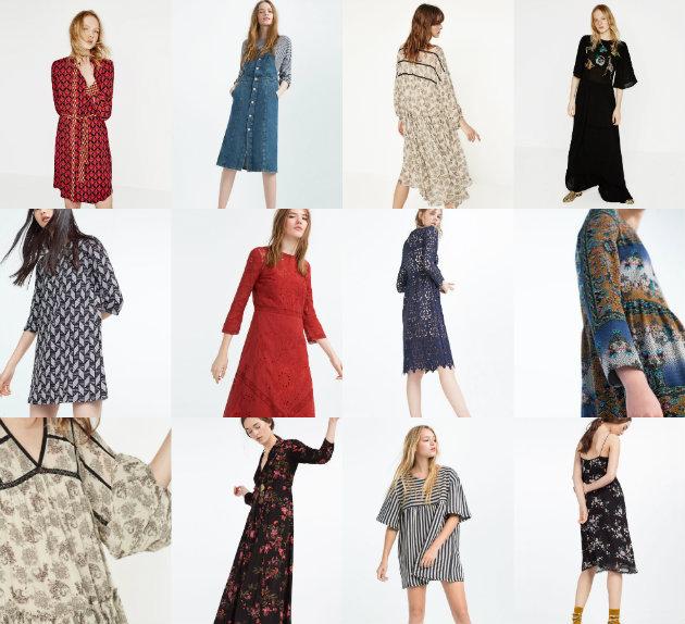 collage zara dress