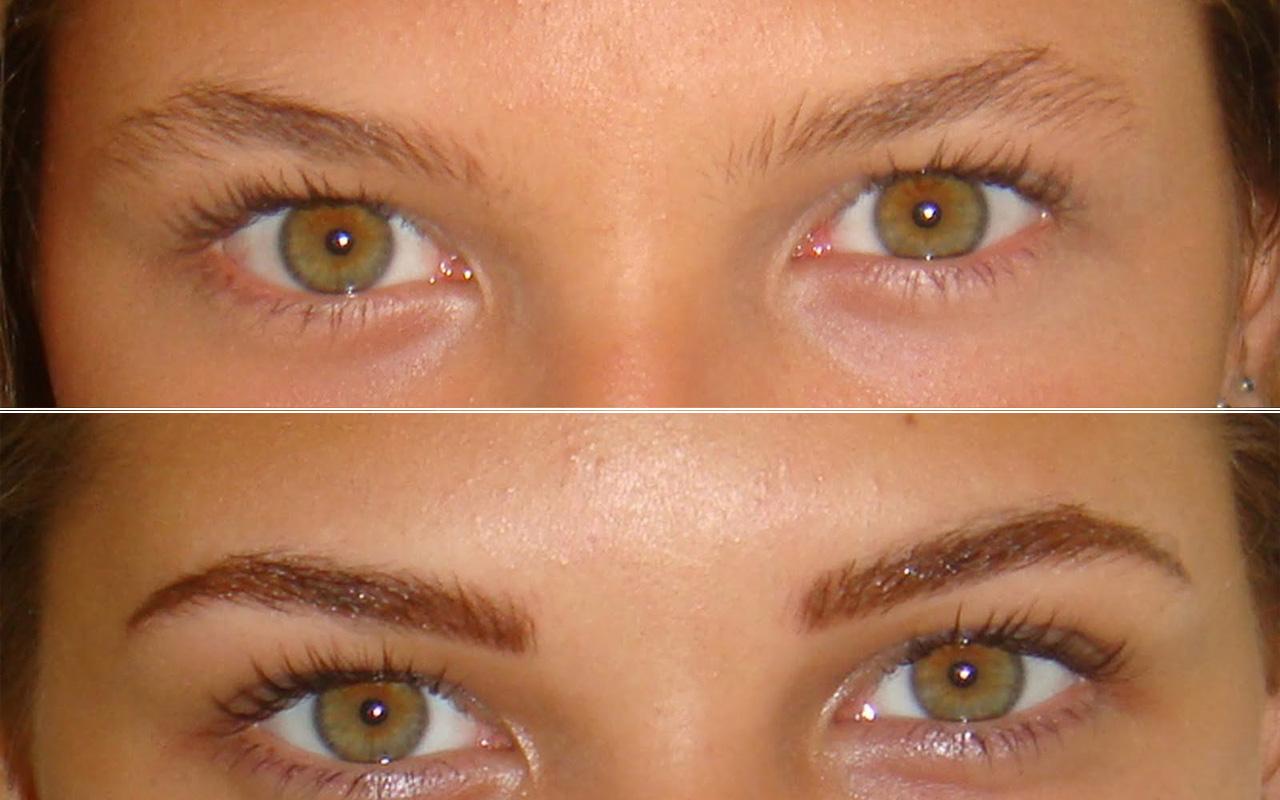 Los resultados son muy naturales, especialmente si ya hay pelo en la ceja