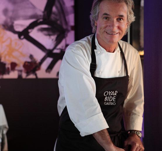 Carlos Oyarbide en su nuevo restaurante madrileño