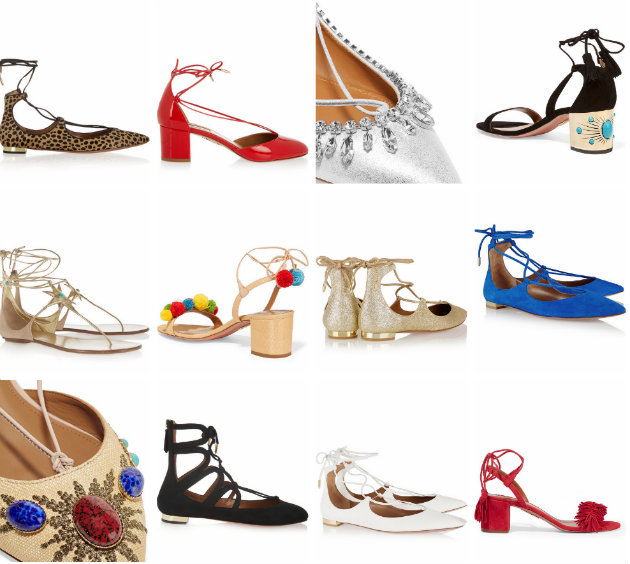 collage aquazzura