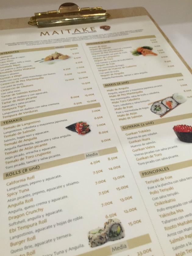 restaurante maitake madrid japones