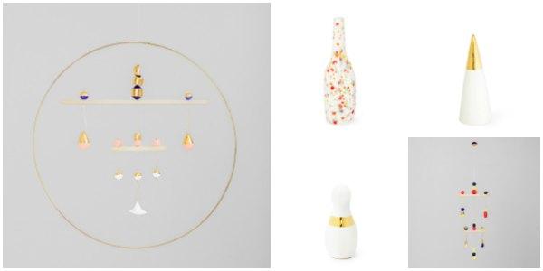 Además de joyas podrás encontrar una gran colección de piezas decorativas , como jarrones, móviles o esculturas.